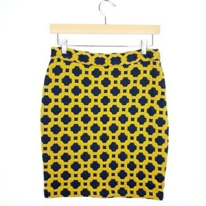 Anthro Charlie and Robin Geometric Pencil Skirt